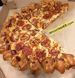 Pizza Hut Hot Dog Pizza