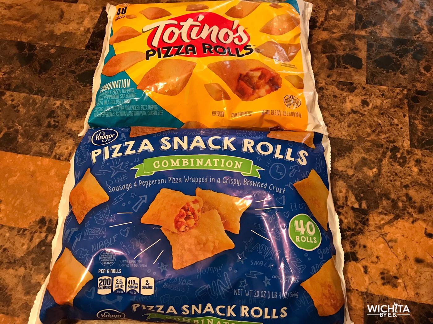 Totinos Pizza Rolls Vs Kroger Pizza Snack Rolls Who Win Wichita By Eb