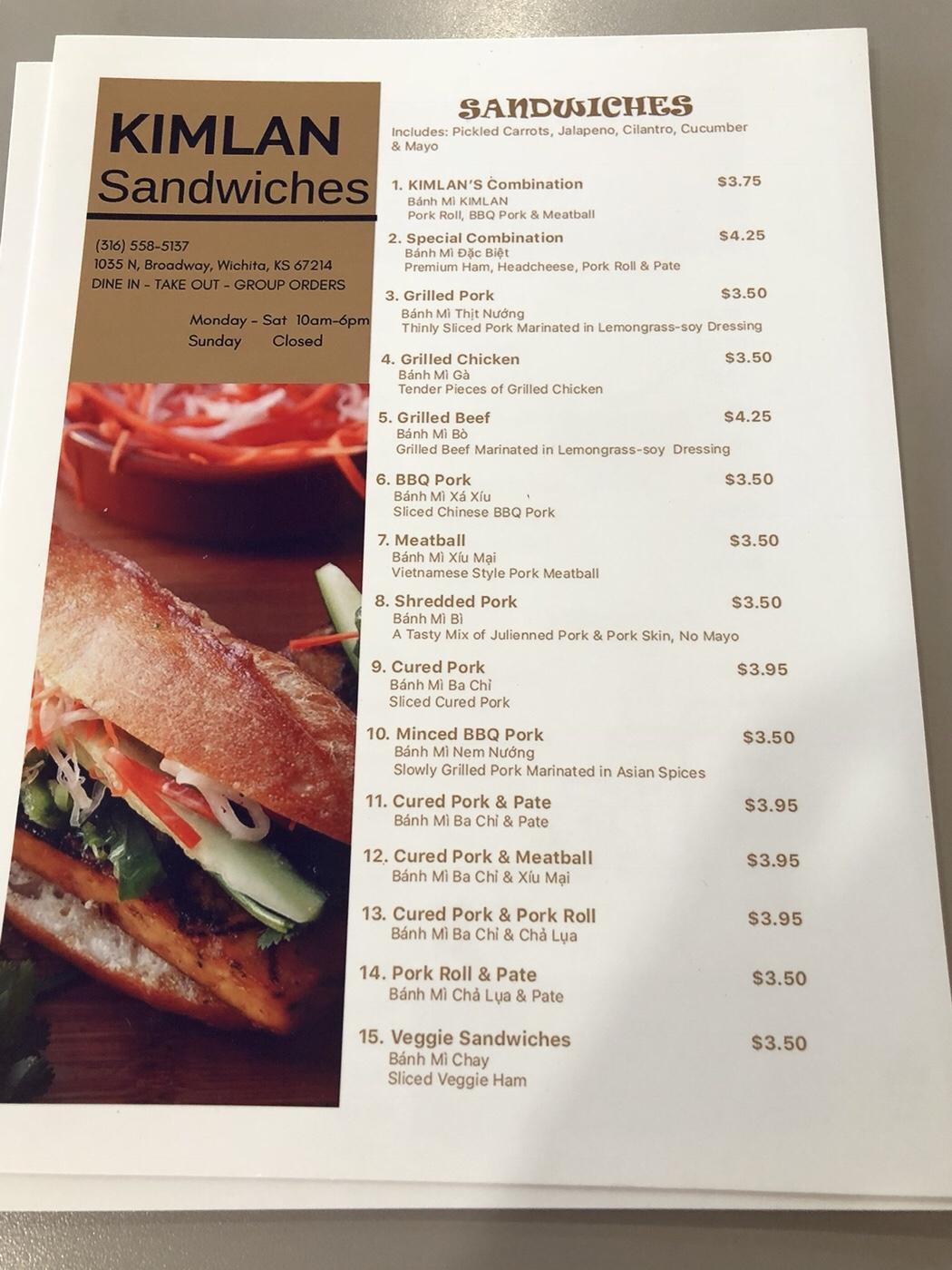 Kimlan Sandwiches