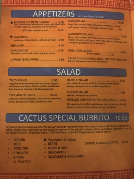 Cactus Cantina & Grill