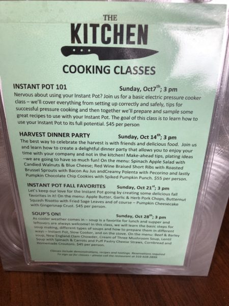 Kitchen Cooking Classes