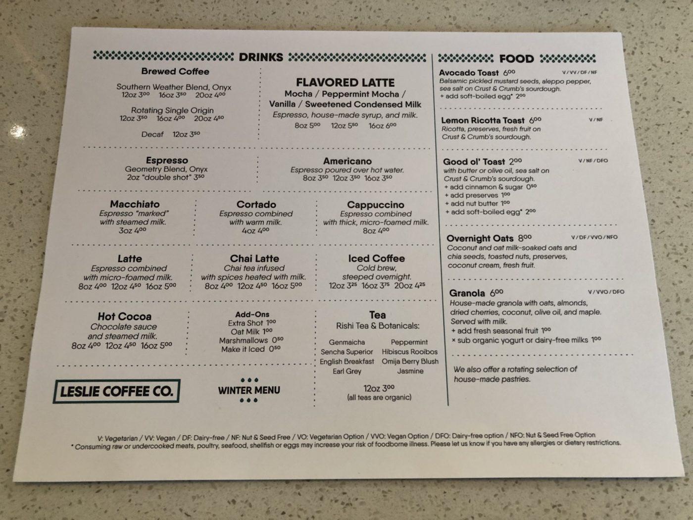 Leslie's Coffee CO