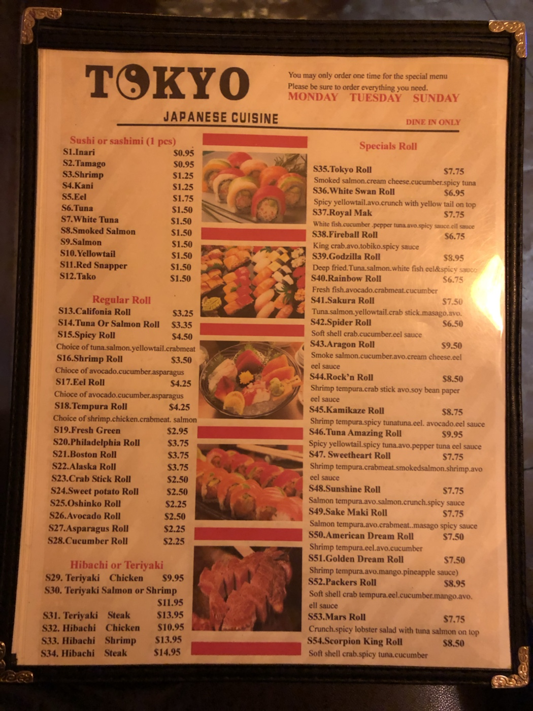 Yes, there's still half-price sushi at Tokyo Japanese Cuisine